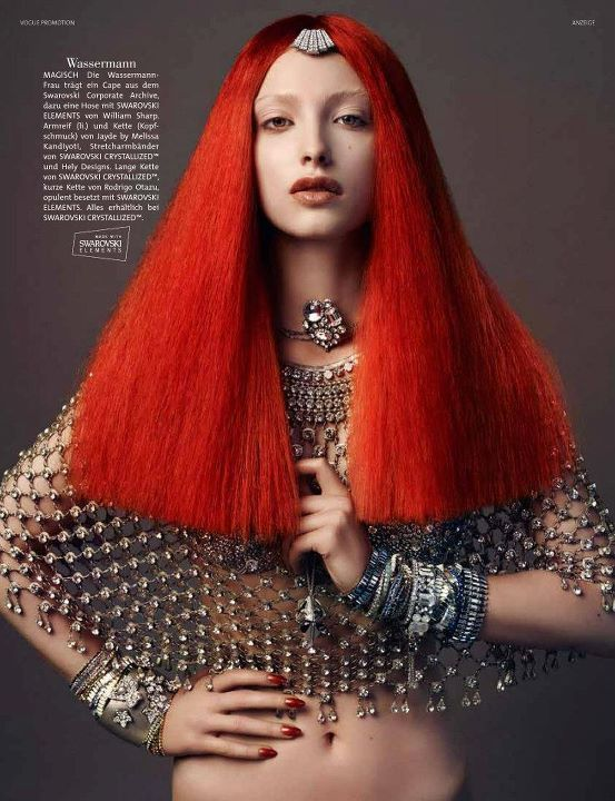 Swarovski's Girls of the Zodiac - glamorous, sparkling, neo-baroque...