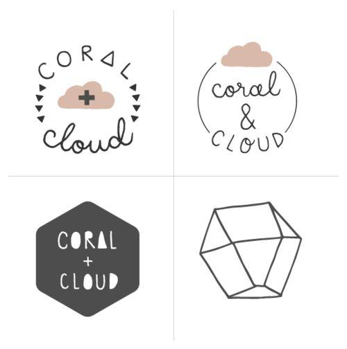 Coral + cloud branding process