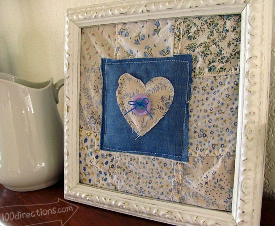 Recycled Fabric Scrap Wall Decor Craft Wall Decor Crafts