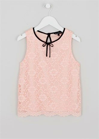 Girls Candy Couture Lace Blouse (9-16yrs)