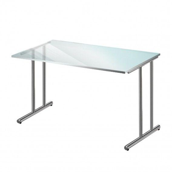 Kaufen!!!   Schreibtisch Artline - Chrom/ESG Glas | Home24