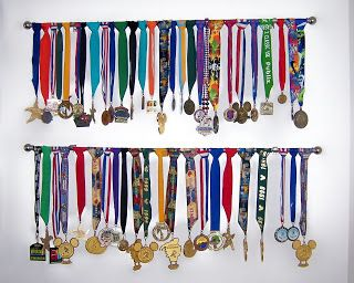 hang medals over curtain rod