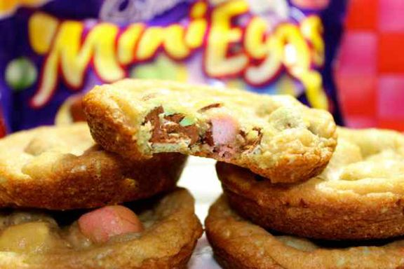 Cadbury Mini Eggs Cookies:  I guess I should make these for Daniel since these eggs are his favorite easter candy