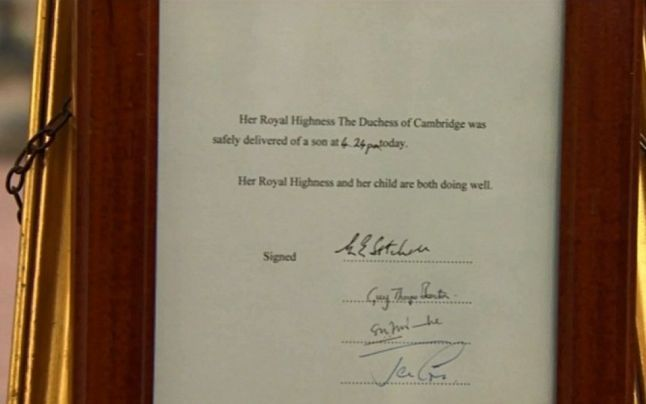 """Ducesa de Cambridge, #KateMiddleton, a născut. """"Bebeluşul regal"""" #royalbaby"""