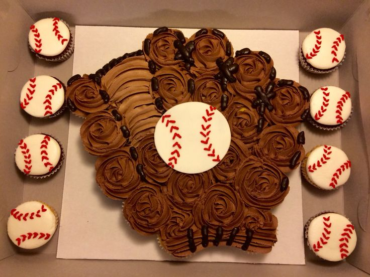 My version of the cupcake baseball glove