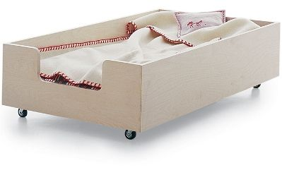 This is going to be Corbin's toddler bed :) Minus the castors & add drawers.