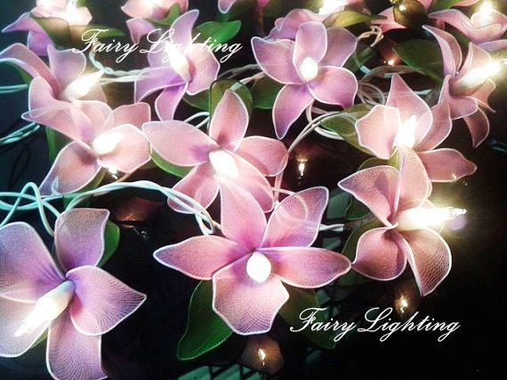 20 Purple Orchic Flower Fairy String lights For Wedding Patio Indoor string  lights bedroom. 17 Best ideas about String Lights Bedroom on Pinterest   Room