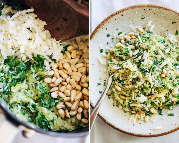 Garlic Spaghetti Squash With Herbs | 24 Low-Carb Spaghetti Squash Recipes That Are Actually Delicious