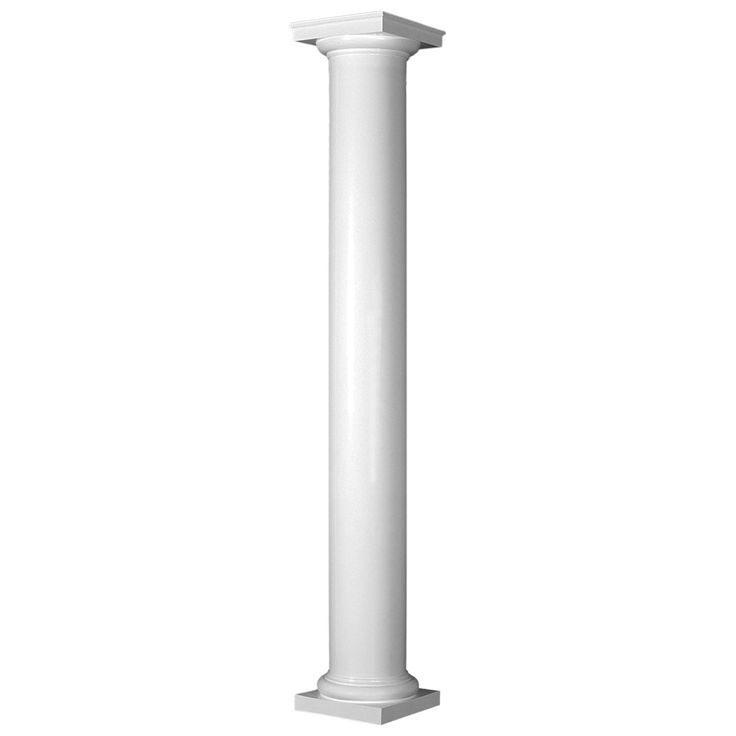 Turncraft Poly-Classic Column, Round Shaft, Non-Tapered, Smooth, Tuscan Style Capital