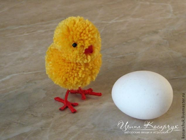 "Workshop: ""Easter chicks from pompons"" - Fair Masters - handmade, handmade"
