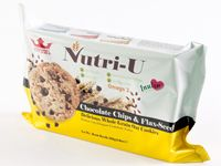 Nutri-U : Delicious Whole Grain Oat Cookies - Choco Chips & Flax Seed