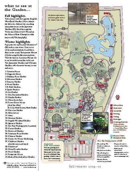 missouri botanical gardens map   Missouri Botanic Gardens Map - St Louis MO • mappery