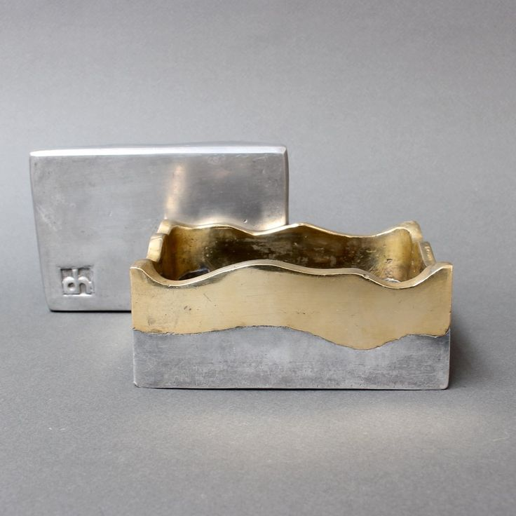 Brutalist Brass and Aluminium Box by David Marshall (circa 1970s)