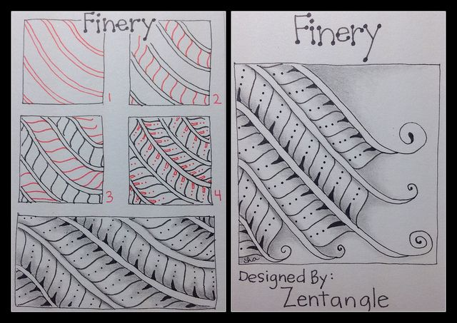 Learning #Zentangle: Tangle Pattern : Finery | Flickr – Condivisione di foto!