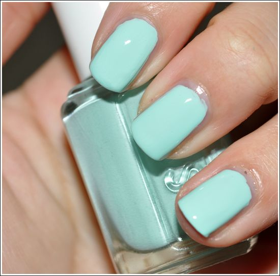 Essie Mint Candy Apple - I am in love with this color right now. Mint all the things!: Spring Color, Mint Green, Mint Nails, Tiffany Blue, Mint Color, Summer Color, Nails Color, Nails Polish, Mint Candy Apples