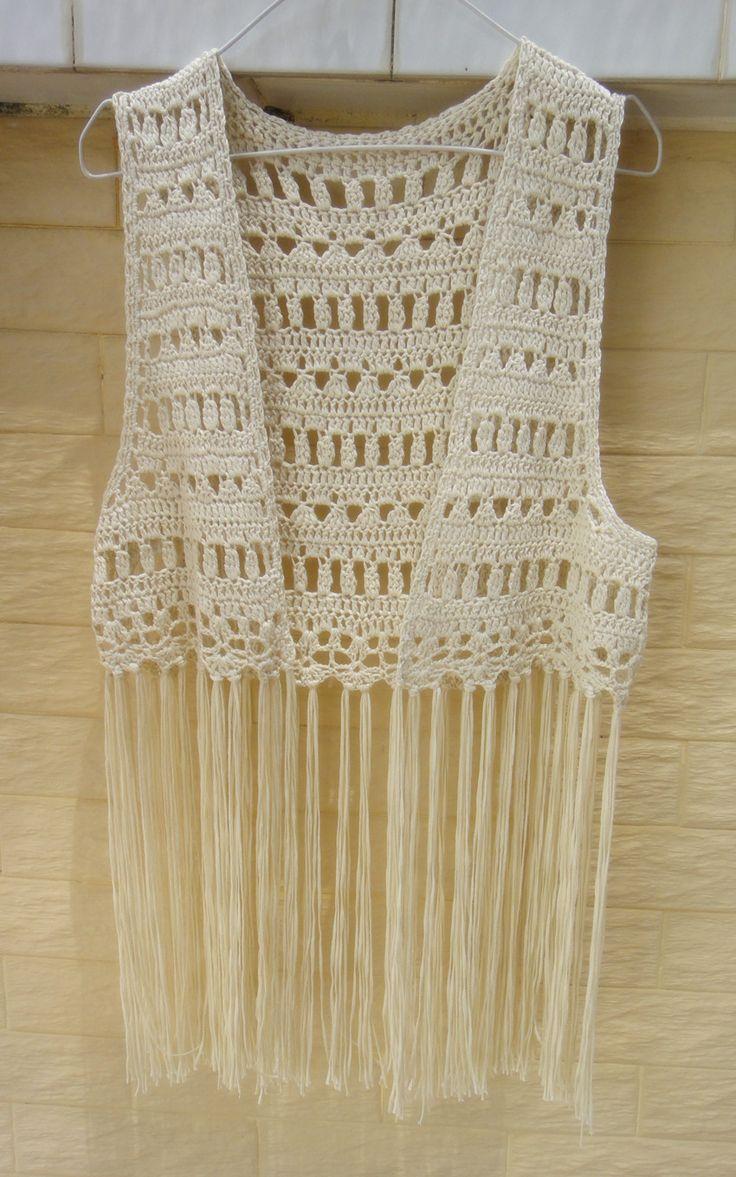 Fringe Festival Top Crochet Bikini Cover Up Summer Beachwear [CFV02] - $29.90 : Tina Crochet Studio, Handmade Crochet Boot Cuffs Socks Women Bohemian Accessory
