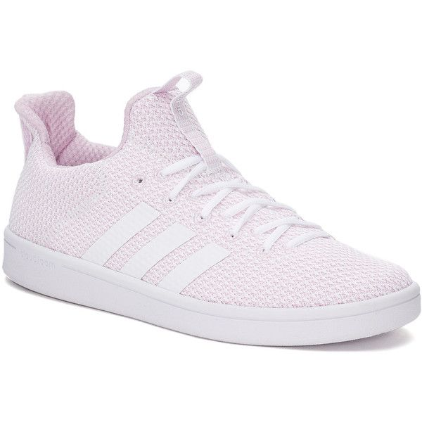 Adidas Cloudfoam Advantage Adapt Women's Sneakers (160 PEN) ❤ liked on Polyvore featuring shoes, sneakers, white, white sneakers, lace up shoes, white trainers, round toe sneakers and lace up sneakers