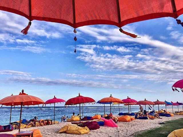 WEBSTA @ ayodyabali - This is it! : @i.shutilova #bluesky #mengiatbeach #beachbar #escape #beach