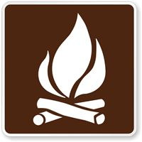 Campfire Symbol - Traffic Signs - RA-030, SKU: X-RA-030 Print out and mount on luan
