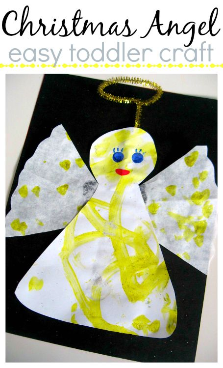 Coffee Filter Angel Craft For Kids Christmastime