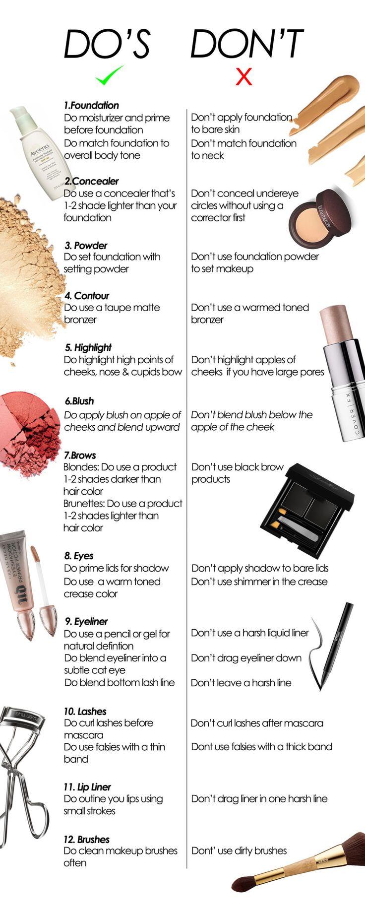 """@assisjoanna6 12 makeup mistakes to avoid 12 erros de maquiagem mais comuns! Lista """"do or don't"""" """"fazer e não fazer""""  Instruções para não repetir nunca mais esses erros básicos que estragam a maquiagem @assisjoanna6"""