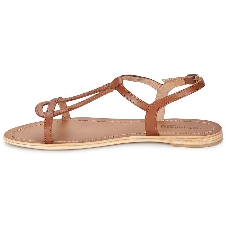 Les Tropéziennes par M Belarbi HAMESS Tan - Chaussure pas cher avec Shoes.fr ! - Chaussures Sandale Femme 59,00 €