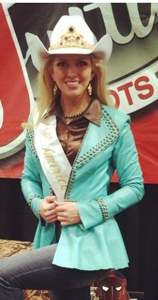 Lauren Heaton, Miss Rodeo America 2015, wearing Rhinestones and Rodeo.