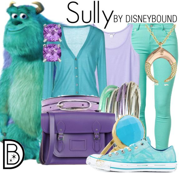 DisneyBounding as Sulley from Monsters University/Inc. by Leslie Kay