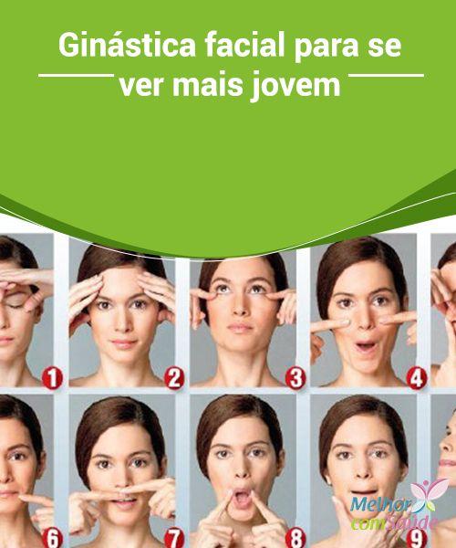 Ginástica #facial para se ver mais jovem  Nossos #músculos faciais requerem de #ginástica facial para conservar sua #elasticidade e firmeza e prevenir a flacidez e a aparição precoce de #rugas.