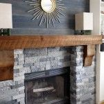 Corner Brick Fireplace Makeover
