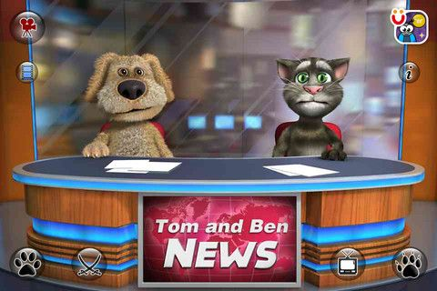 Talking Tom and Ben News ($0) FREE - Great to encourage vocalization and even dialogue in groups as well as interaction with the touch screen.
