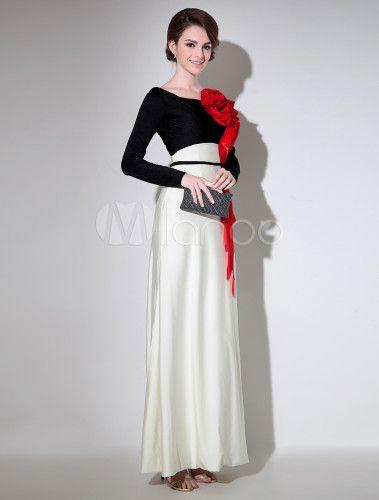 Cortar escote redondo manga larga vestido de poliéster elegante vestido de noche para las mujeres - Milanoo.com