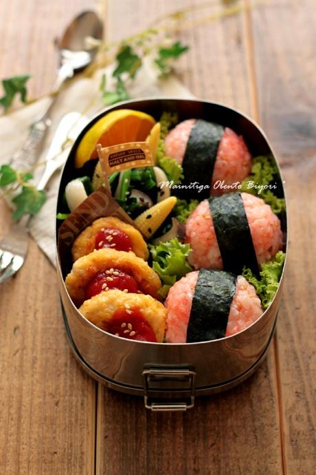男子弁当★明太子おにぎりのお弁当~小学生用のお弁当~の画像 | 毎日がお弁当日和♪