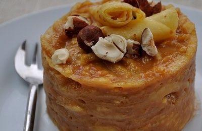 Gâteau de crêpes aux pommes & caramel au beurre salé