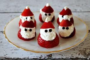 Strawberry Santas - 3 carbs each