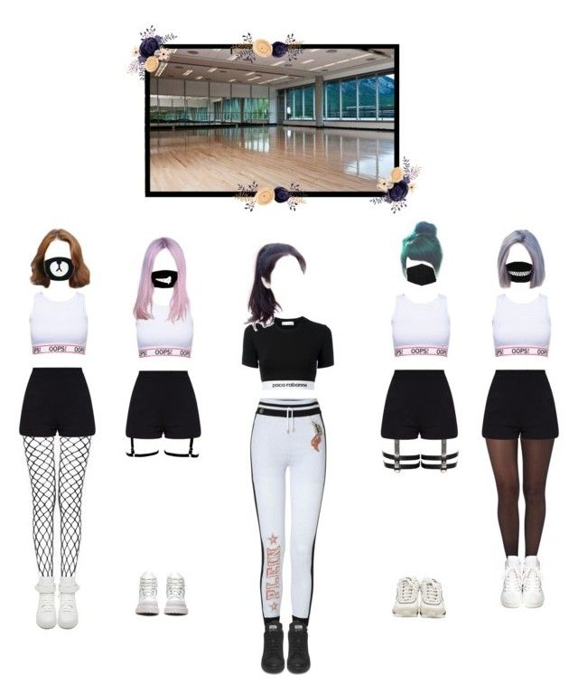 """""""Blum - This & That dance practice"""" by official-interstellar ❤ liked on Polyvore featuring Paco Rabanne, Pretty Polly, Ash, Givenchy, Chanel and Dr. Martens"""