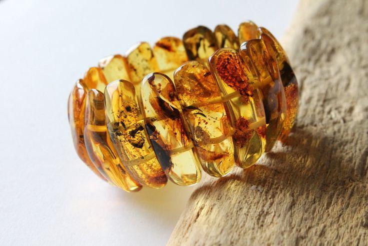 Lemon amber bracelet, massive summer style amber bracelet, pure amber jewelry, genuine Baltic amber, classic organic amber bracelet, amber by AmberDesign8 on Etsy