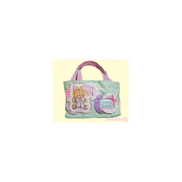 リメイク★ - キャンバストートバッグ★Honey Bunny(C) - 原宿 ショップ マニアック パニエ フェアリー ❤ liked on Polyvore featuring bags and purses