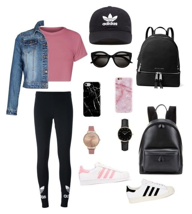 """"" by livfanllya on Polyvore featuring adidas Originals, Balenciaga, MICHAEL Michael Kors, Recover, ROSEFIELD and Olivia Burton"