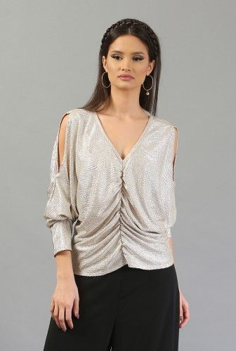 Bluza eleganta aurie B093-AM -  Ama Fashion