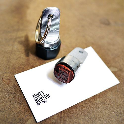 Business Card Stamp Keychain Leave your mark. Personalized stamp available for $25.