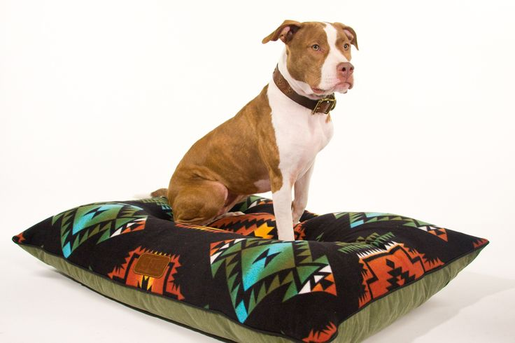 Gitli Goods - The Camp Bed (Black), (http://www.gitligoods.com/southwestern-canvas-dog-bed/)