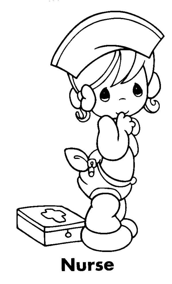 child nurse coloring pages - photo#32