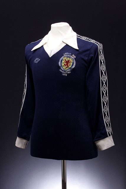 Scotland Football Shirt (World Cup, 1978). Little Archie Gemmill teaching the Dutch how to play football