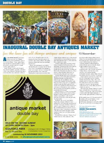 Full page editorial Antiques & Art Magazine October 2013