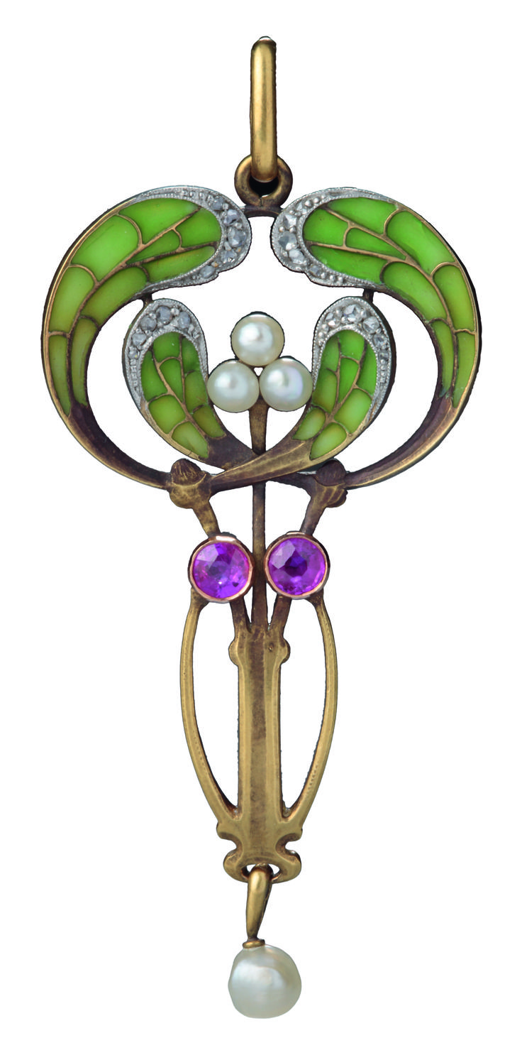 Philippe Wolfers, pendant - 1900s - Wolfers frères - Hessisches Landesmuseum Darmstadt - Art Nouveau - http://www.hlmd.de/