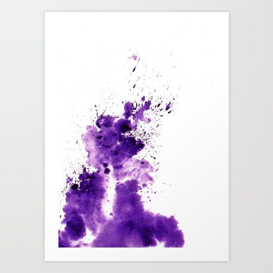 Buy Purple Stain Art Print by perplexed_sea. Worldwide shipping available at Society6.com. Just one of millions of high quality products available.