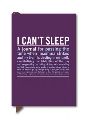 I Can't Sleep Mini Journal
