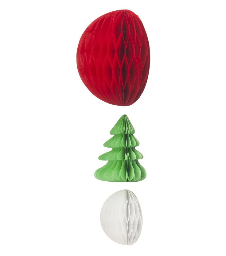 6-pack paper Christmas ornaments