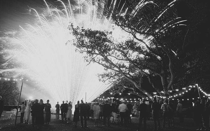 Tweed Hinterland Wedding - Velleron House - Nat McComas. Amazing wedding fireworks to end an amazing celebration. Tweed Wedding Celebrant.